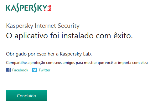 Kaspersky Internet Security 2019 | Aplicativo instalado