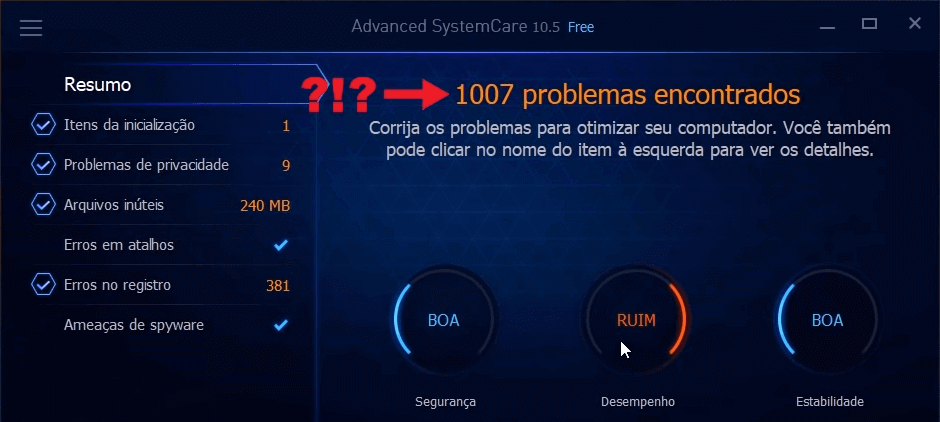 A Praga dos Otimizadores de PC   Advanced System Care