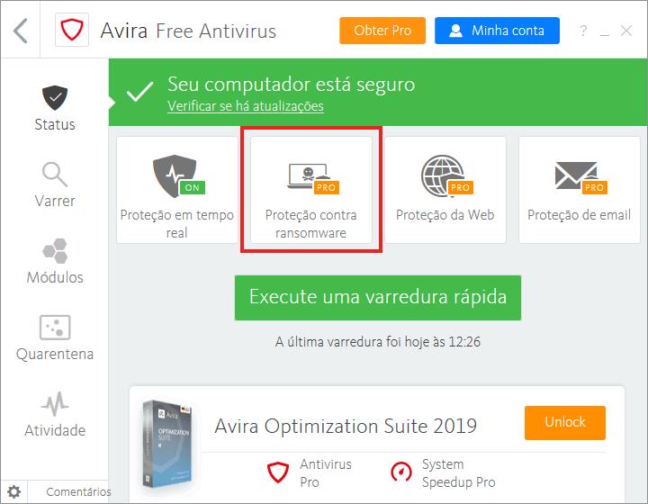 Os melhores antivírus gratuitos do mercado | Avira Free Antivirus