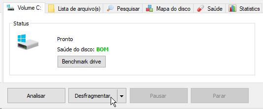 Desfragmentação de arquivos