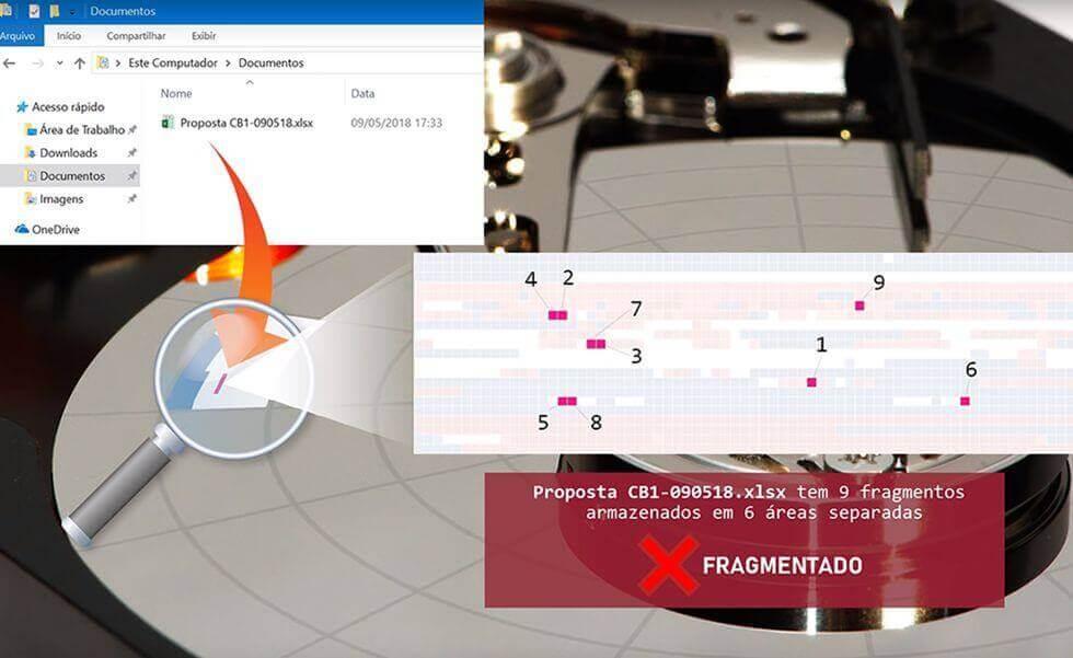 Exemplo de arquivo fragmentado
