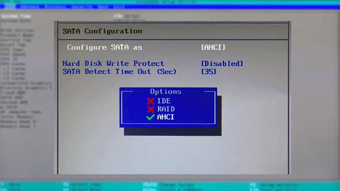 Otimização de SSD | Mudança na BIOS/UEFI