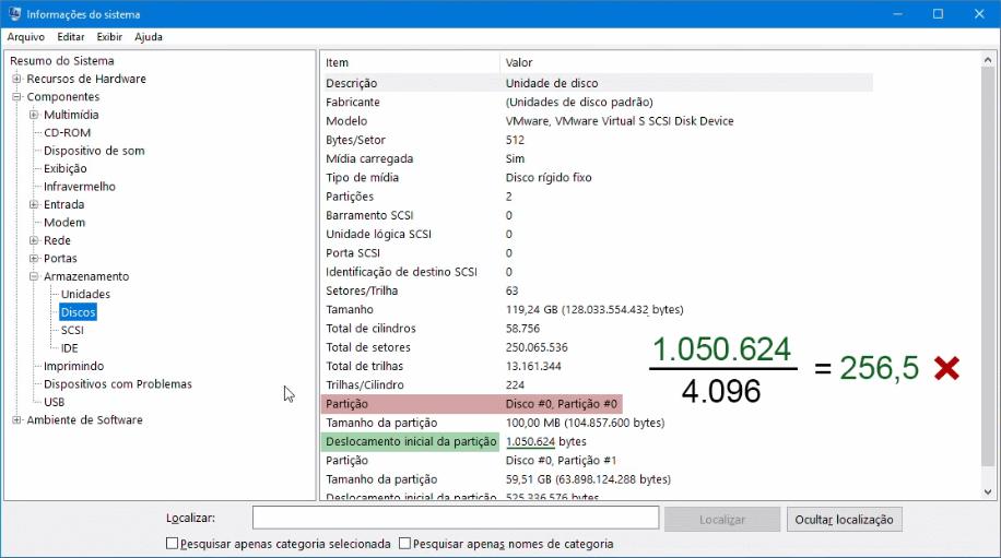 Otimização de SSD | Partição desalinhada - exemplo 1