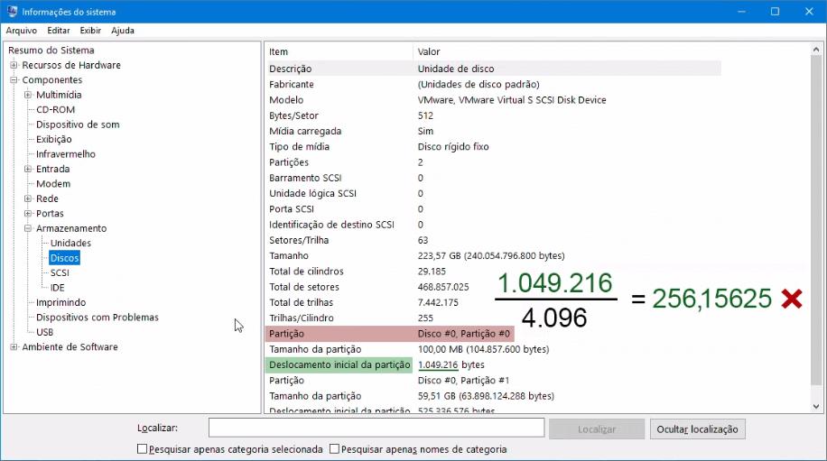 Otimização de SSD | Partição desalinhada - exemplo 2