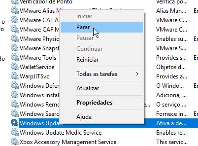 Soluções para o problema do disco 100% | Windows Update
