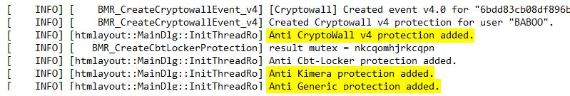 Anti-ransomware gratuito - Bitdefender - log
