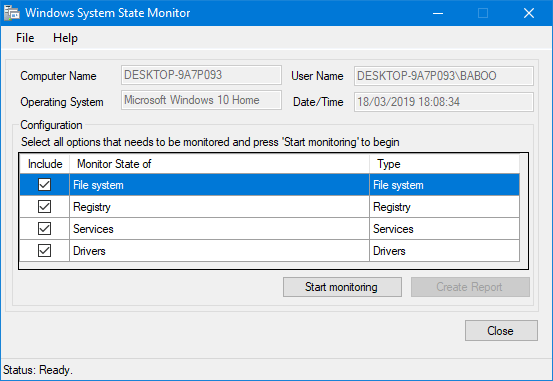 Windows System State Monitor