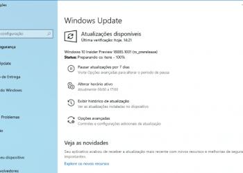 Faça o download do Windows 10 Preview build 18885
