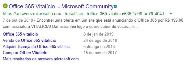 Office 365 vitalício não existe!