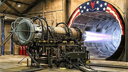 Teste da turbina de um F-16. OK, isso não tem nada a ver com teste de antivírus, mas a imagem é sensacional :)