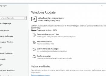 Microsoft disponibiliza o Windows 10 build 18362.86 no canal de distribuição Release Preview