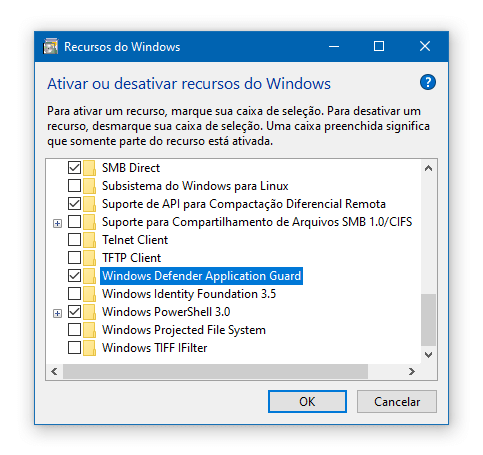 Windows Defender Application Guard no Windows 10 Pro | Recursos do Windows