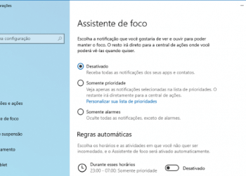 Assistente De Foco Windows 10 Thumbnail
