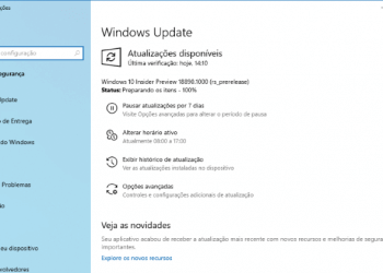 Faça o download do Windows 10 Preview build 18890