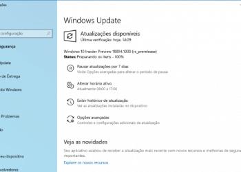 Faça o download do Windows 10 Preview build 18894