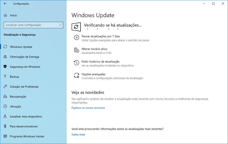 Faça o download do Windows 10 Preview build 18898