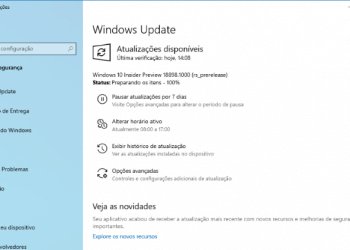 Faça o download do Windows 10 Preview build 18898