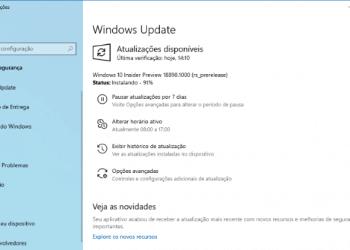 Novidades no Windows 10 Preview build 18890