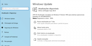 Microsoft disponibiliza o Windows 10 build 18362.116 no canal de distribuição Release Preview