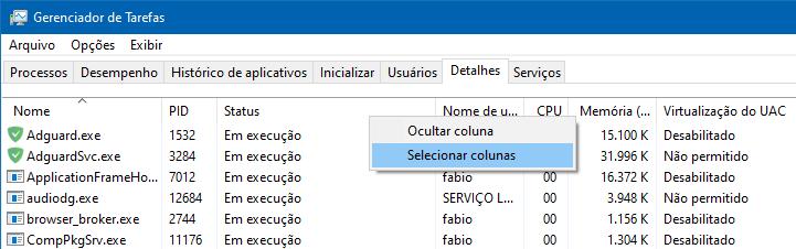 Como visualizar processos com reconhecimento de DPI no Windows 10