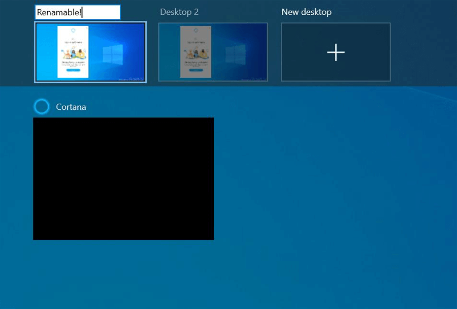 Windows 10 permitirá que os usuários renomeiem as áreas de trabalho virtuais