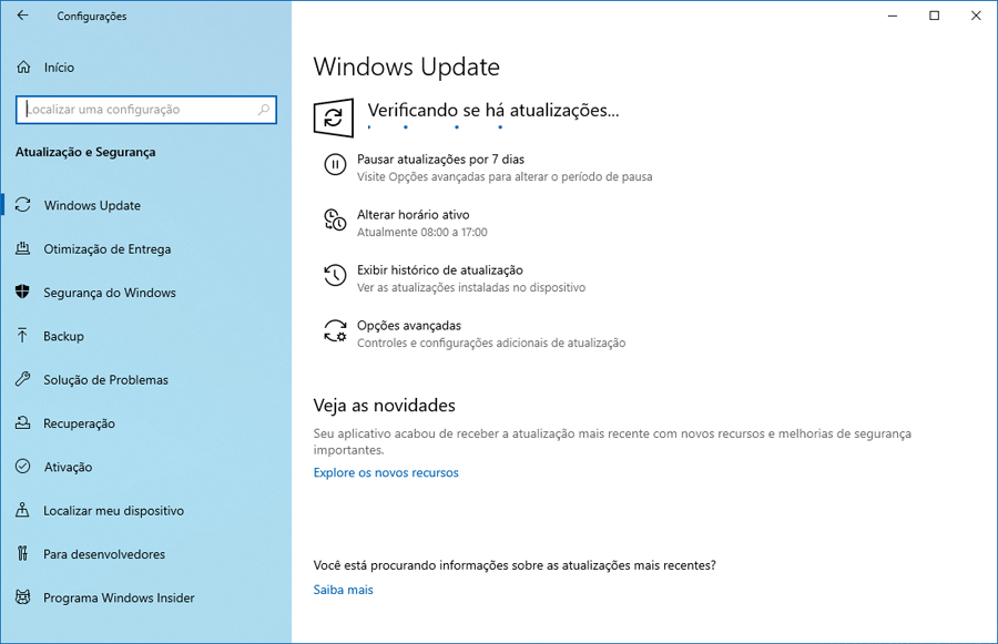 Faça o download do Windows 10 Preview build 18936