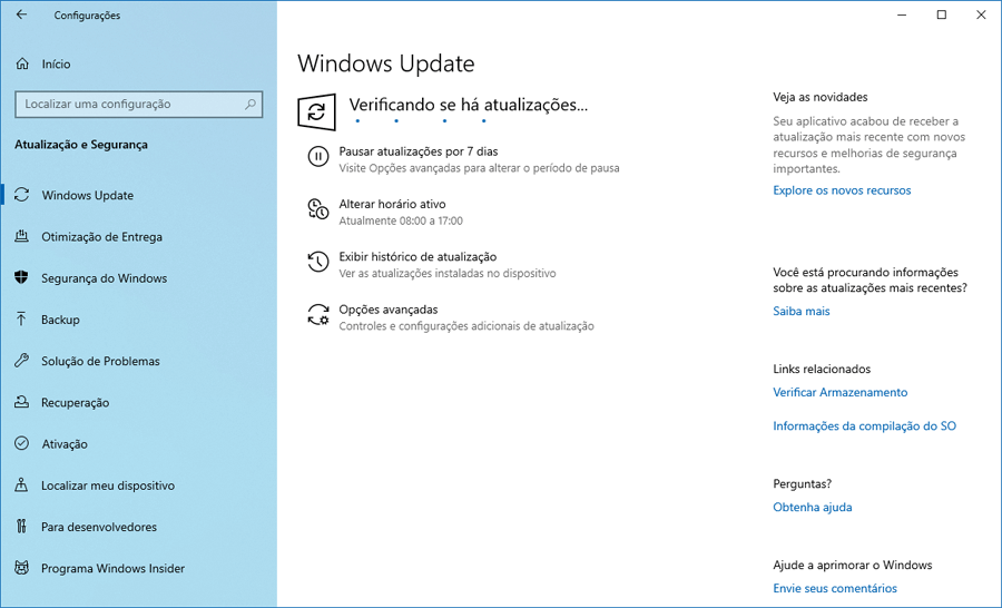Faça o download do Windows 10 Preview build 18941