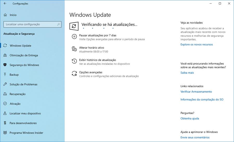 Faça o download do Windows 10 Preview build 18945