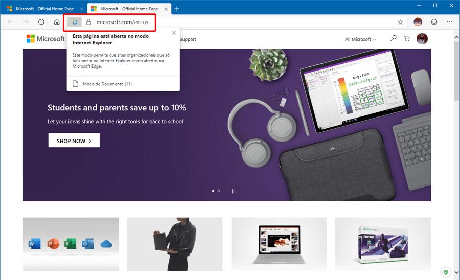 Como habilitar o IE Mode no Microsoft Edge baseado no Chromium