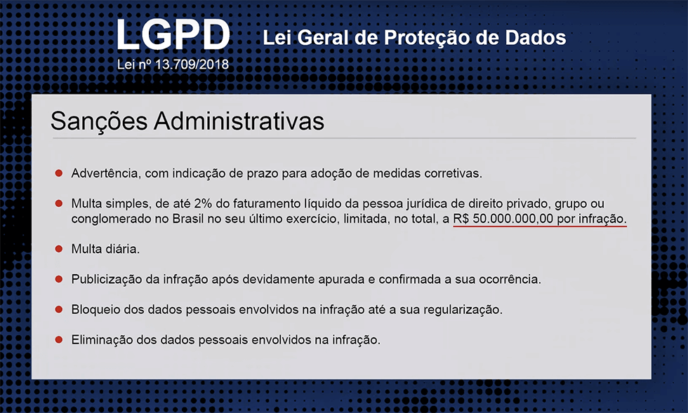 LGPD: multa de até 50 milhões de reais por infração