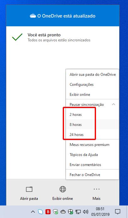 Como interromper temporariamente a sincronização de arquivos do OneDrive no Windows 10