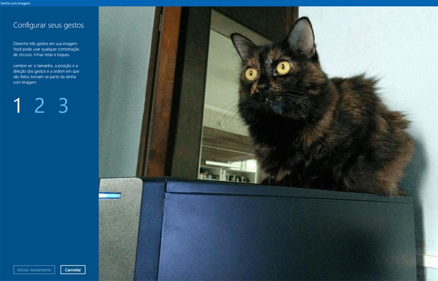 Como usar a opção Senha com Imagem para se logar no Windows 10