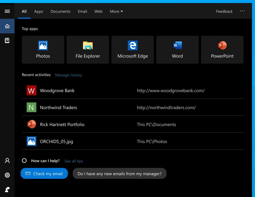 Nova interface de pesquisa já está disponível no Windows 10 October 2018 Update