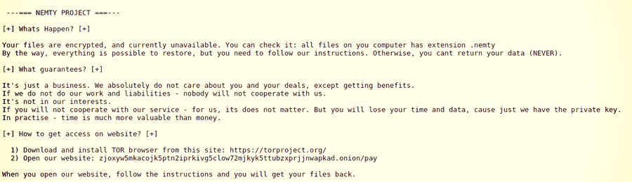 Pesquisadores alertam para o novo ransomware Nemty