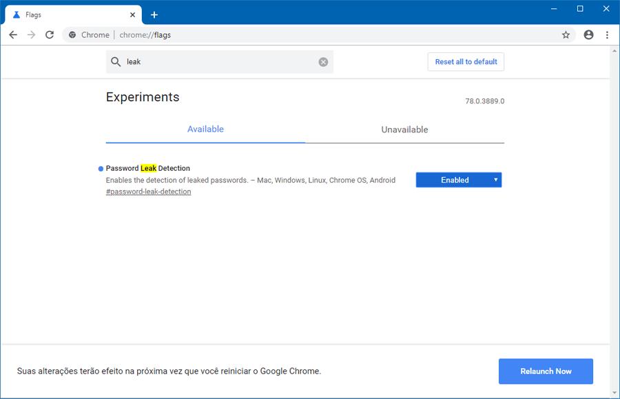 Google Chrome ganha opção para detectar o vazamento de senhas