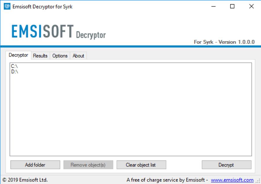 Emsisoft disponibiliza ferramenta para ajudar vítimas do ransomware Syrk