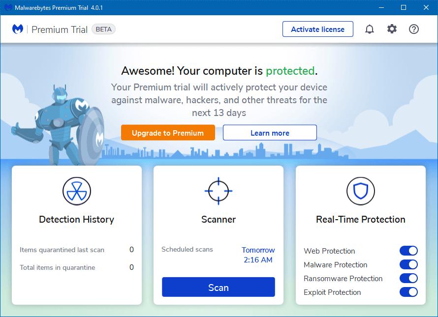 Versão de testes do Malwarebytes 4 traz uma nova interface