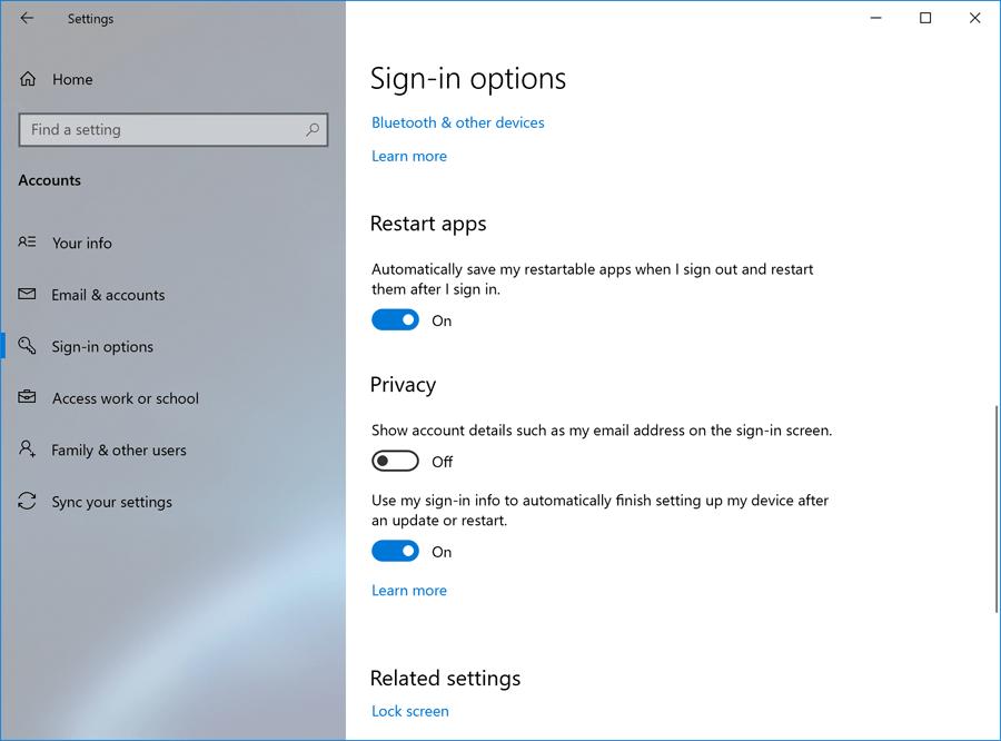 Novidades no Windows 10 Preview build 18965