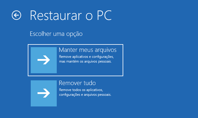 Como usar a opção Restaurar o PC no Windows 10 sem precisar se logar