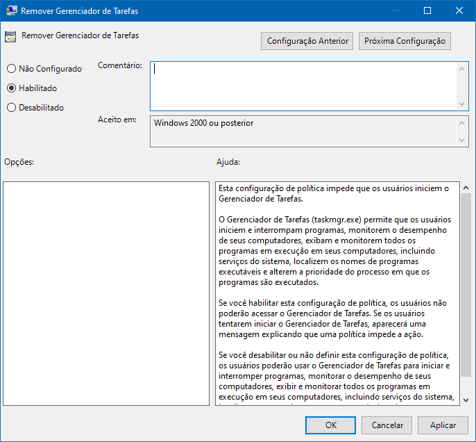 Como restringir o acesso ao Gerenciador de Tarefas no Windows 10