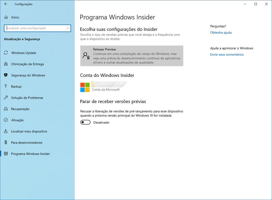 Microsoft disponibiliza o Windows 10 Preview build 18362.10019