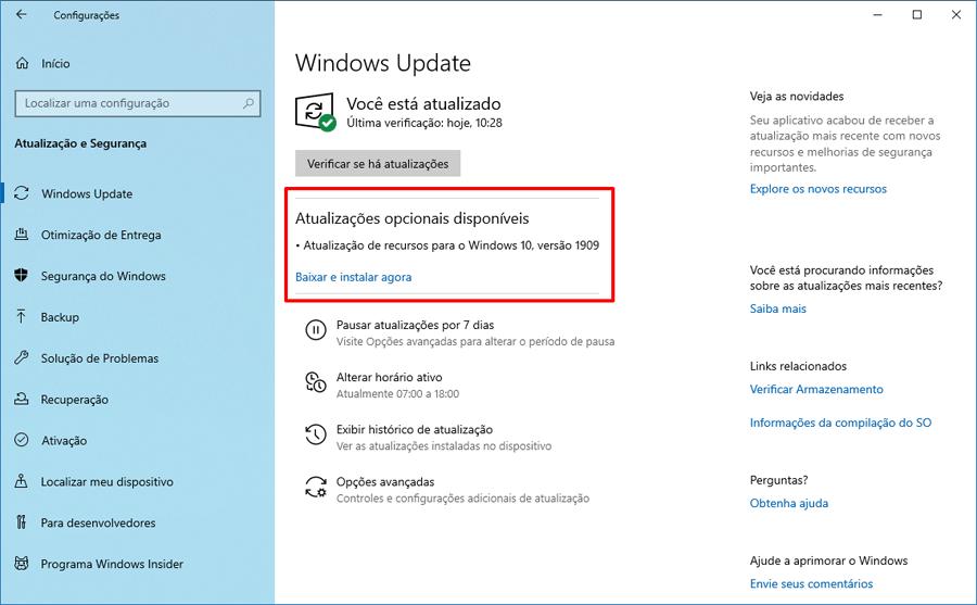 Microsoft disponibiliza o Windows 10 build 18363.329 no canal de distribuição Release Preview